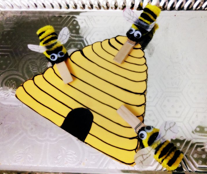 clothespin bee craft