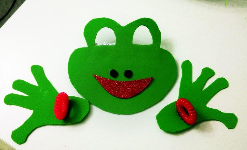 frog face mask making