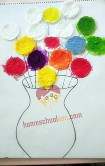 flower painting for toddlers