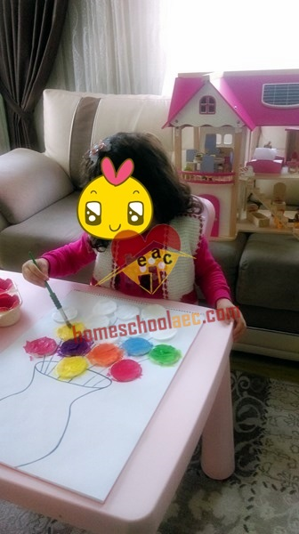 flower painting for kids