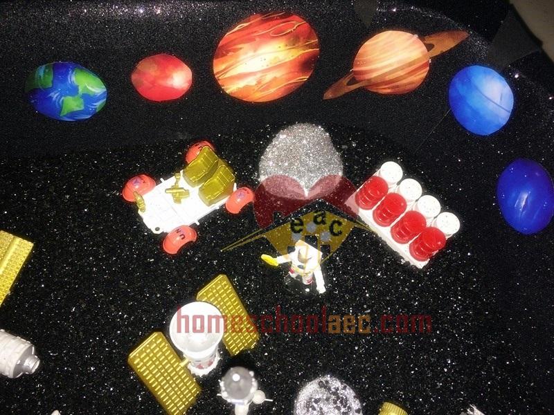planet sensory table