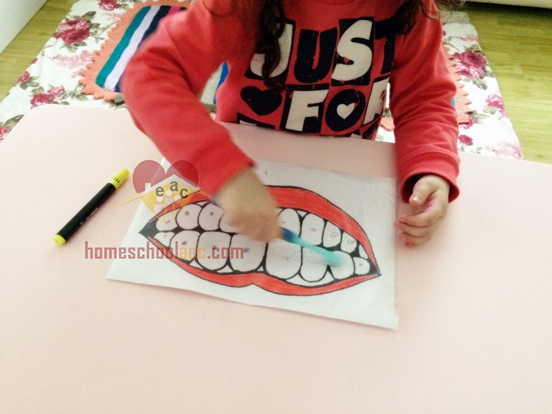 kids  toothbrush activity