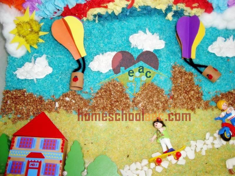 tissue paper hot air balloon
