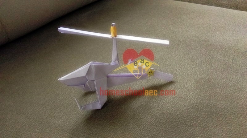 origami helicopter