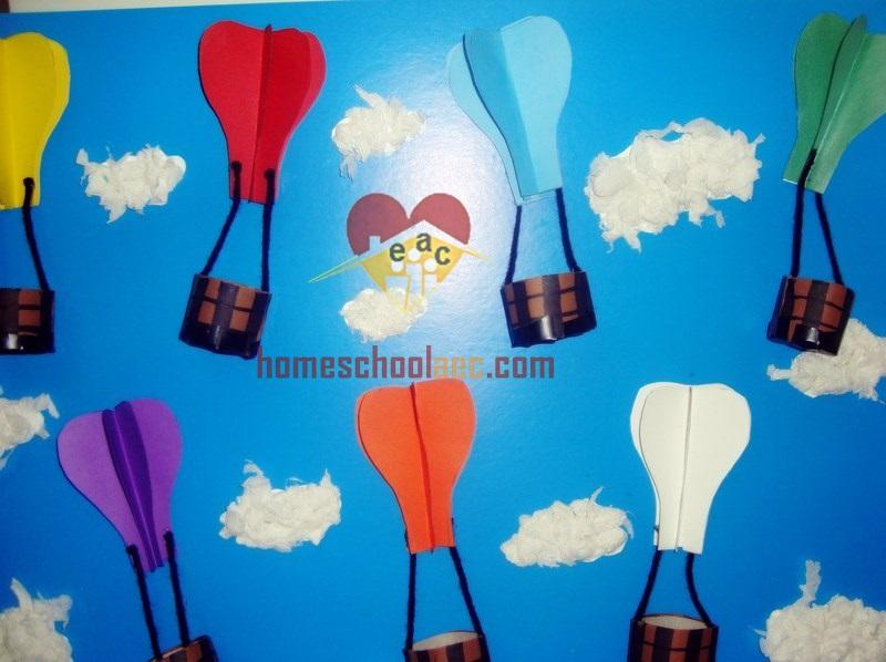 diy hot air balloon for kindergarten