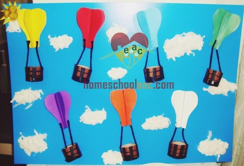diy hot air balloon color activity