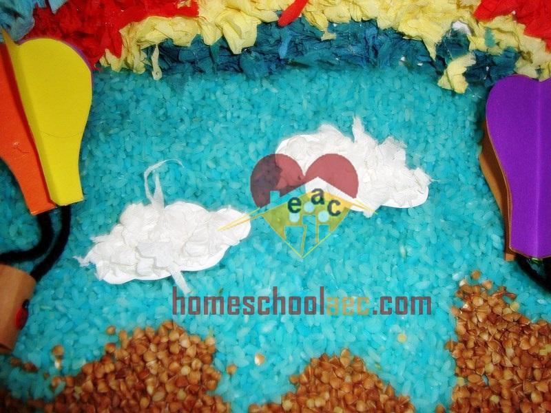 diy hot air balloon sensory table