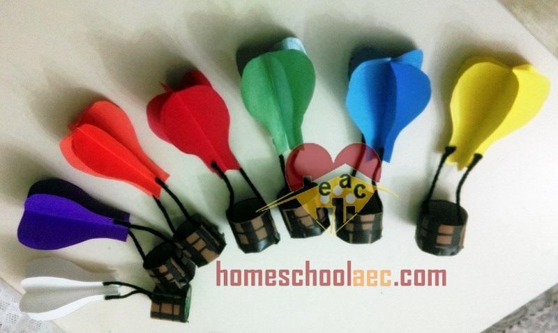 colorfull diy hot air balloon