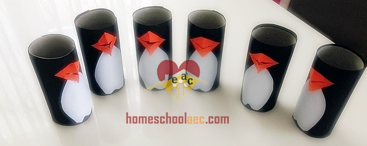 Toilet Paper Roll And Paper Plate Penguin Craft Idea For Kids
