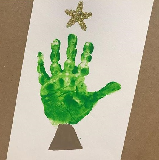 christmas handprint card