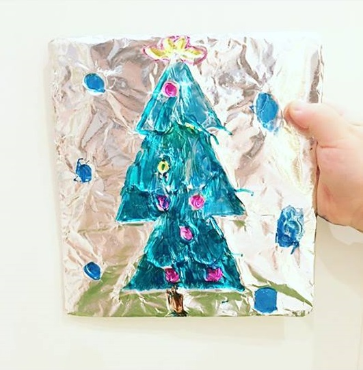 toddlers christmas art