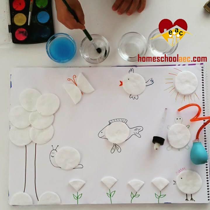 cotton pad art