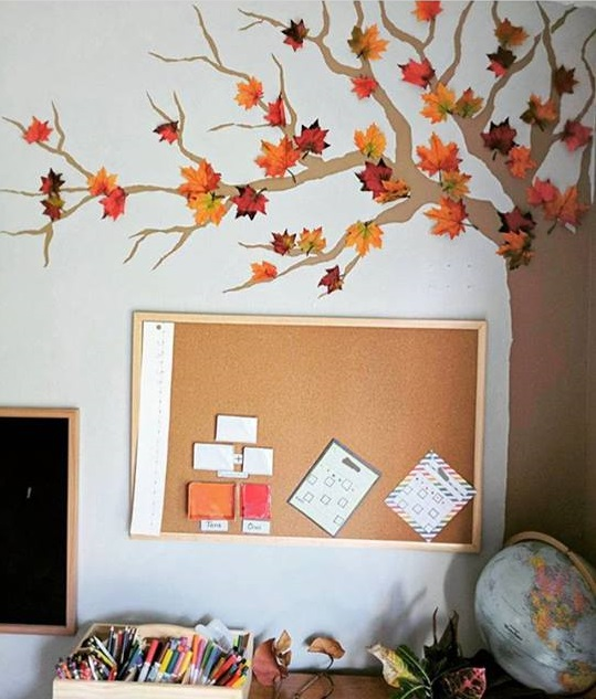 fall wall decorations for kids
