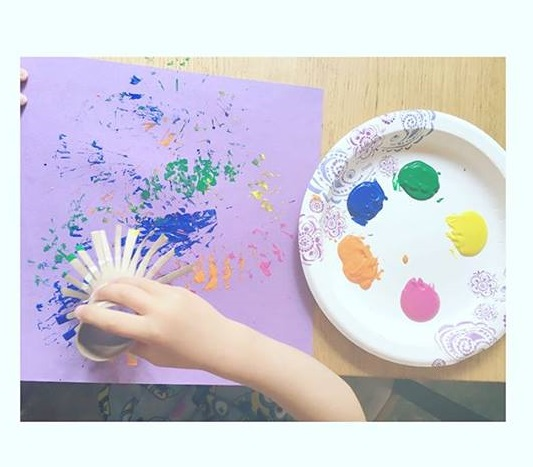 firework painting for toddlers