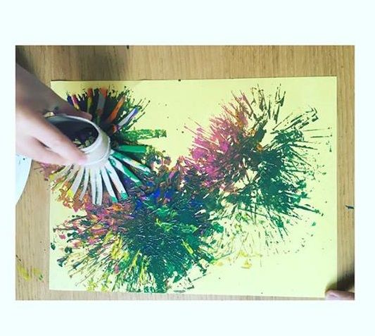 paper roll painting activity