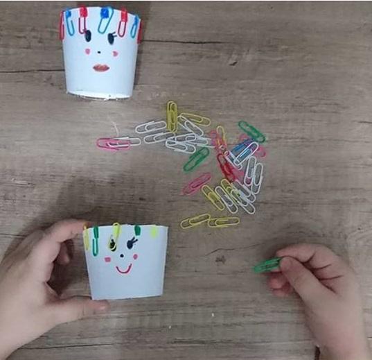 paper clip fine motor skills