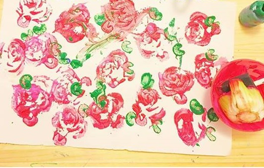 vegetable printing art