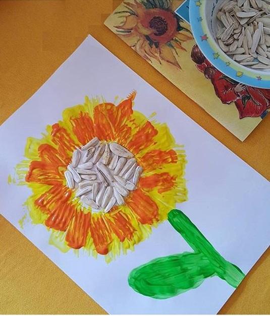 sunflower fork painting