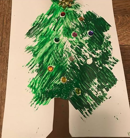 christmas fork painting ideas