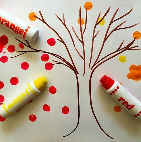 tree painting activity