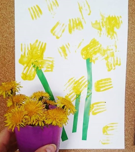 flower fork painting art