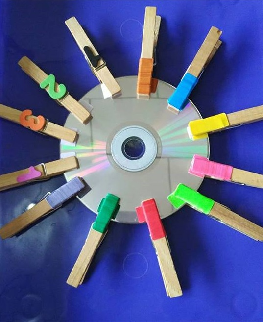 color activity with using clothespin