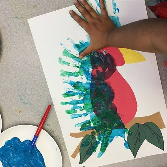 kids handprint art activity