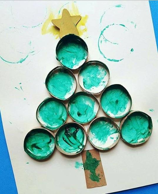 christmas tree painting art ideas