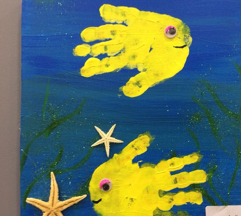 handprint art wall decoration