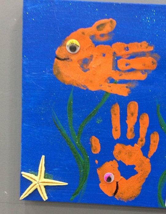 preschool handprint art