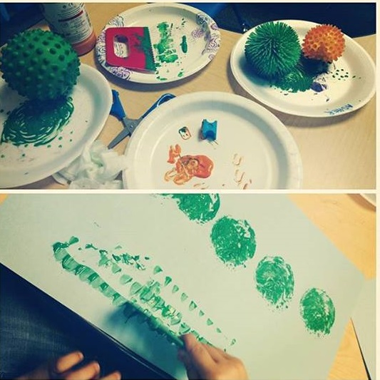 ball painting for toddlers