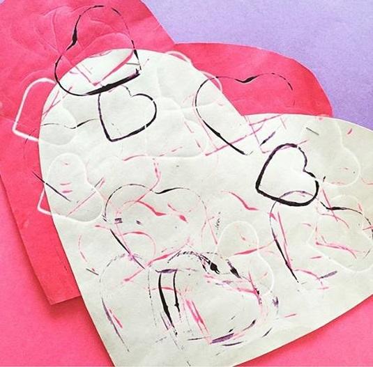 valentine day printing art