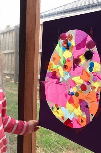 easter egg collage craft