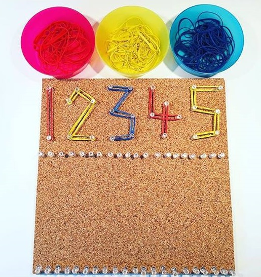 number activities with geoboard