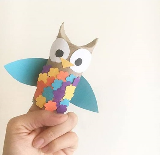 paper roll owl craft