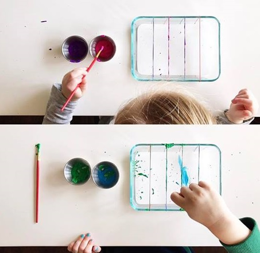 rubber band painting for kids