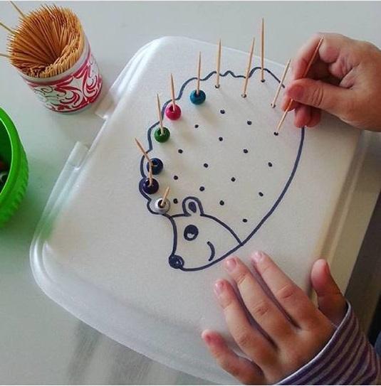 paper plate fine motor skills