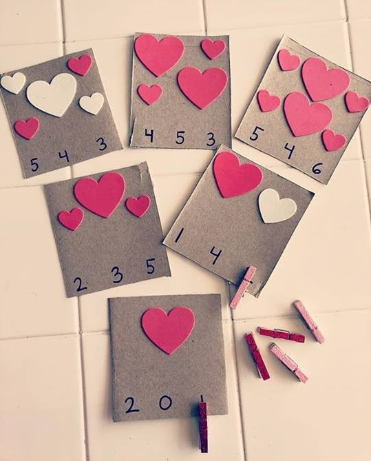 valentine day counting activity