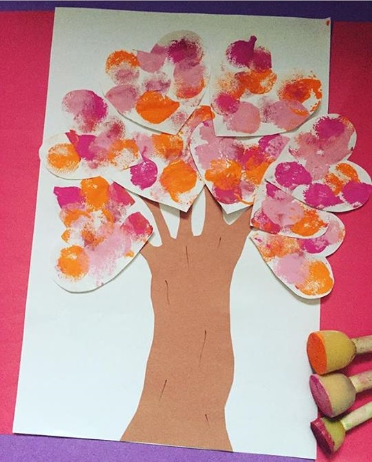 valentine day tree craft