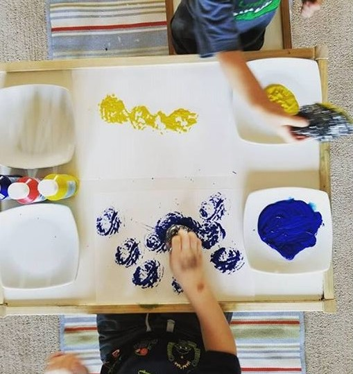 toddlers printing activity
