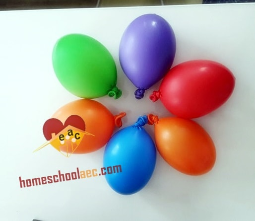 montessori sensory balloons activities