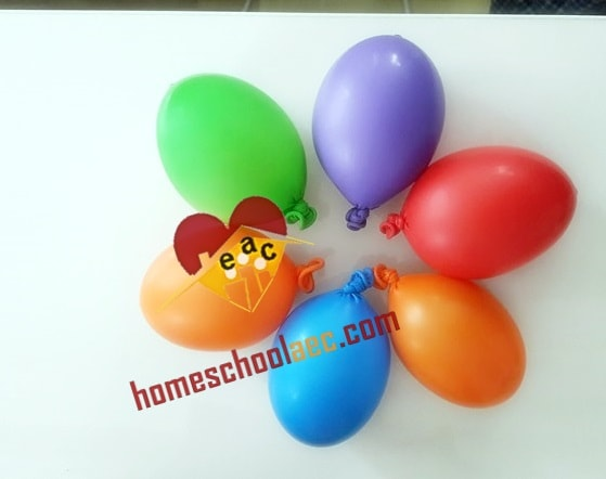 montessori sensory balloons for homeschool