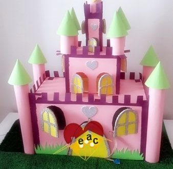 Cardboard castle craft idea for kids for Build your own castle home