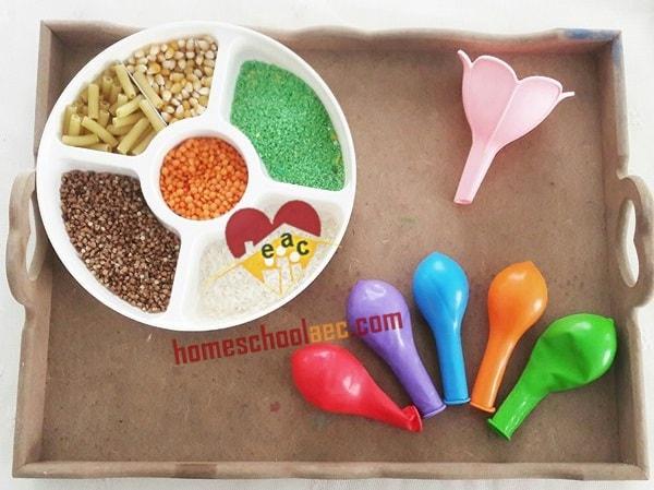 montessori sensory balloons