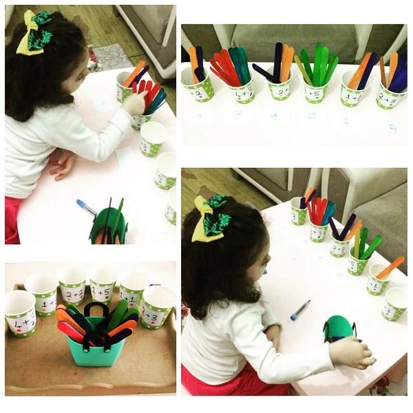 kids mat addition activity