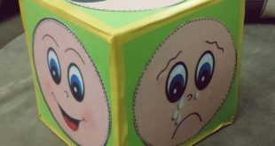 emotions face cube