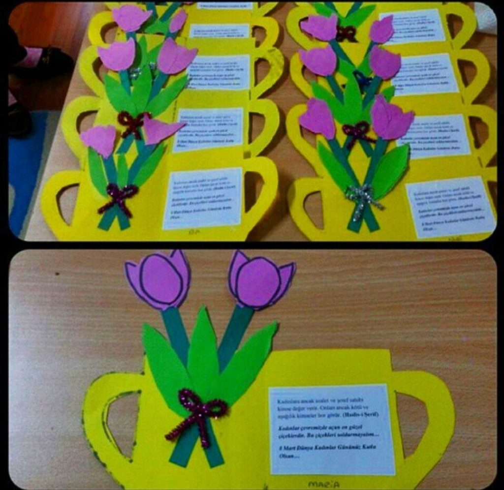 mothers day flower craft for children