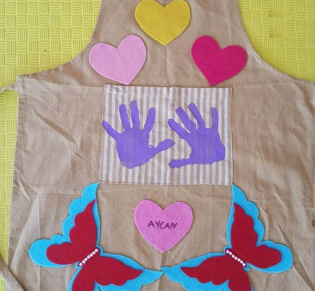 mothers day handprint art activity
