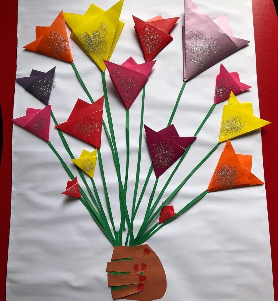 mothers day flower craft for homeschool