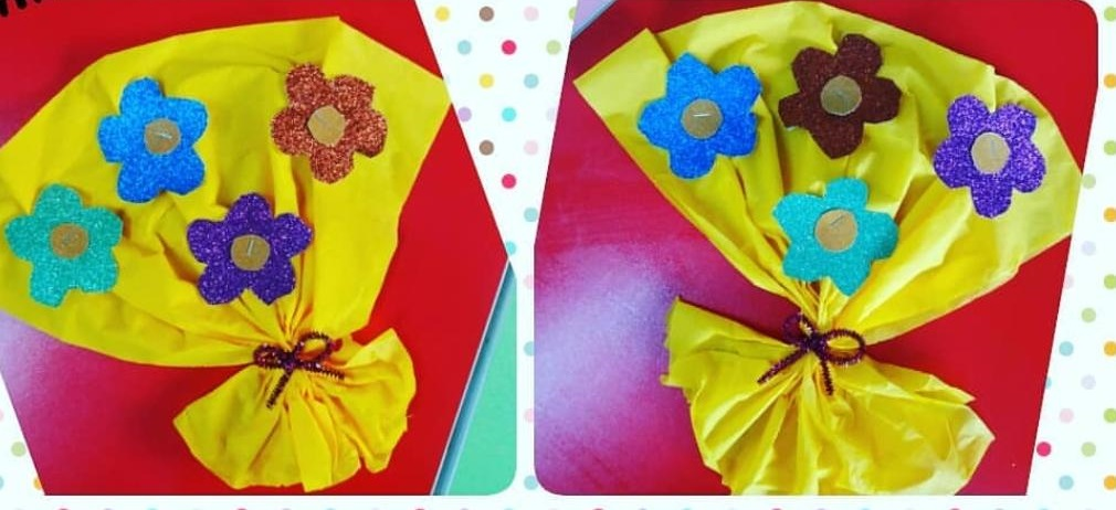 mothers day flower craft for toddlers